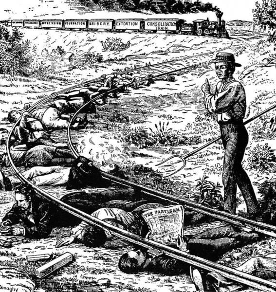 Political Cartoon Painting - Grange Cartoon, 1873 by Granger