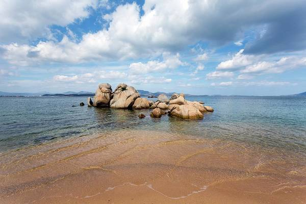 Weathering Photograph - Granite Boulders And Sandy Beach by Dr Juerg Alean