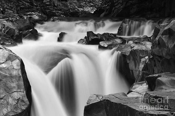 Photograph - Granite Falls Black And White by Mark Kiver