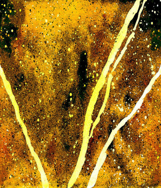 Wall Art - Painting - Granite In Citrine by Rosemary Craig
