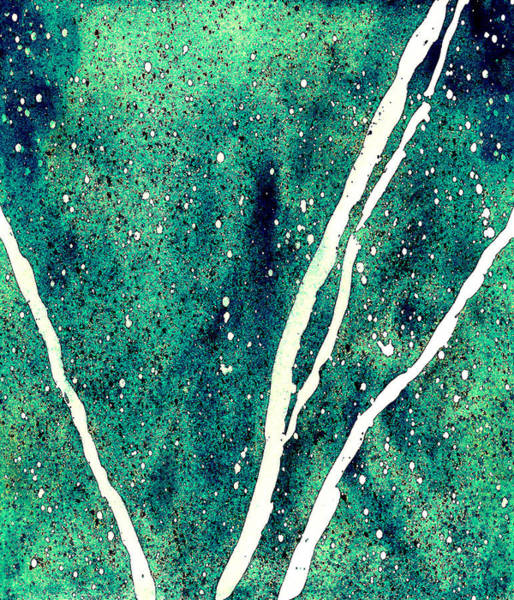 Wall Art - Painting - Granite In Turquoise by Rosemary Craig