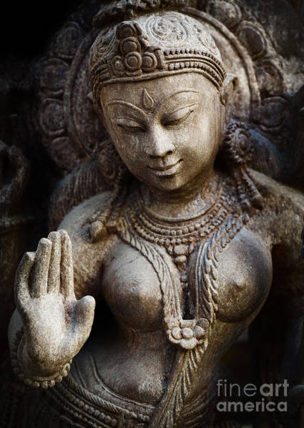 Divine Love Wall Art - Photograph - Granite Indian Goddess by Tim Gainey