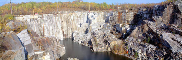 Contour Photograph - Granite Quarry, Barre, Vermont by Panoramic Images