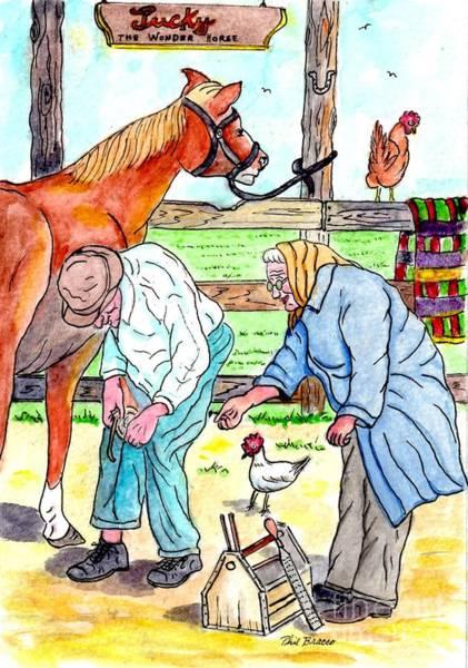 Mixed Media - Granma And Granpa by Philip Bracco
