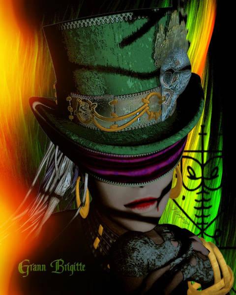 Voodoo Digital Art - Grann Brigitte by Jean Gugliuzza
