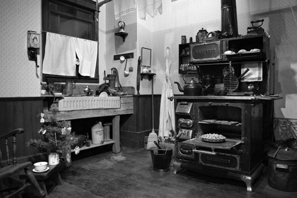 Photograph - Granny's Kitchen - Bw by Marilyn Wilson