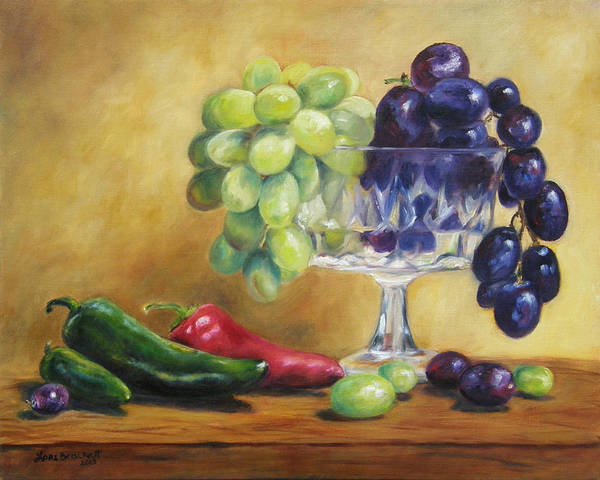 Painting - Grapes And Jalapenos by Lori Brackett