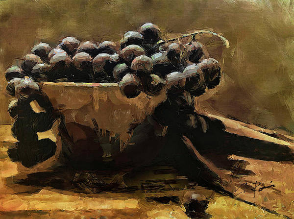 Painting - Grapes by Charlie Roman