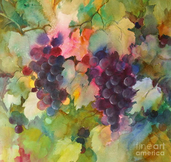 Painting - Grapes In Light by Michelle Abrams