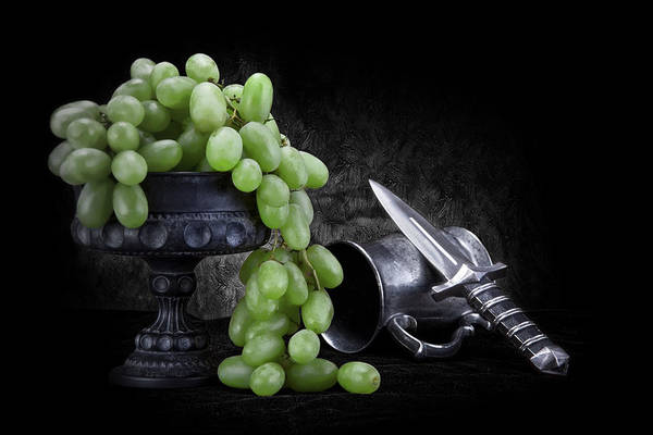 Cutlery Photograph - Grapes Of Wrath Still Life by Tom Mc Nemar