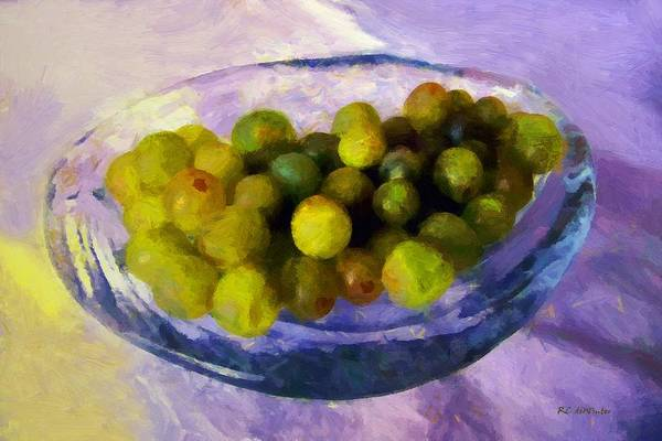 Painting - Grapes On The Half Shell by RC DeWinter