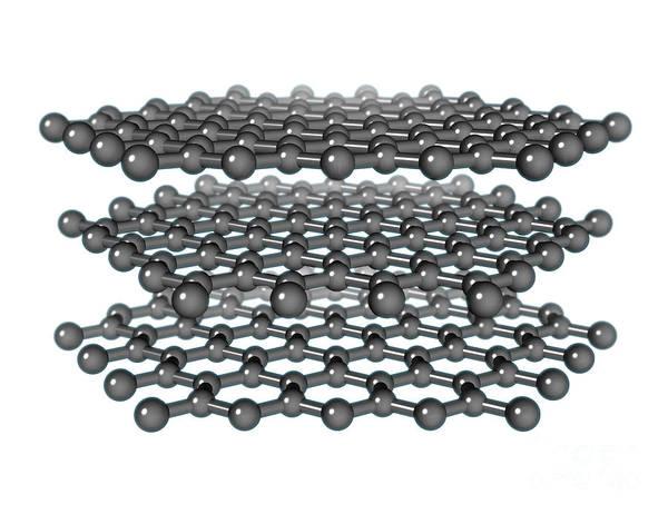 Photograph - Graphite Molecular Model by Evan Oto