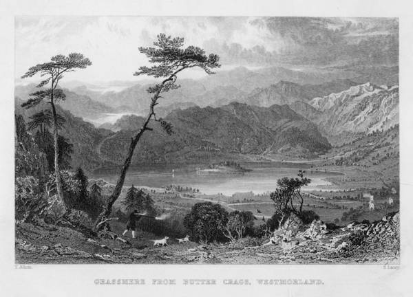 Grasmere Lake From Butter  Crags Art Print