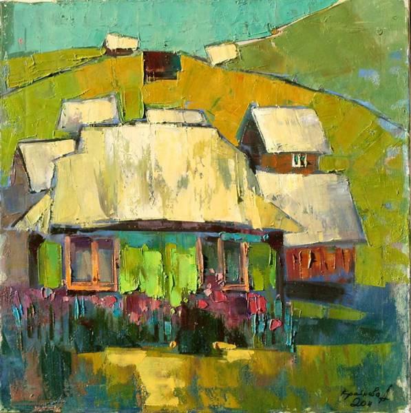 Wall Art - Painting - Grass In The Yard by Anastasija Kraineva