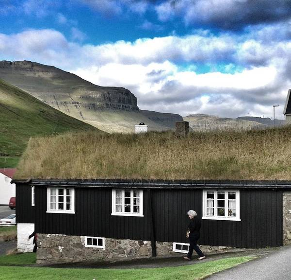 Gota Photograph - Grass Roof House In Faroe Islands by John Potts
