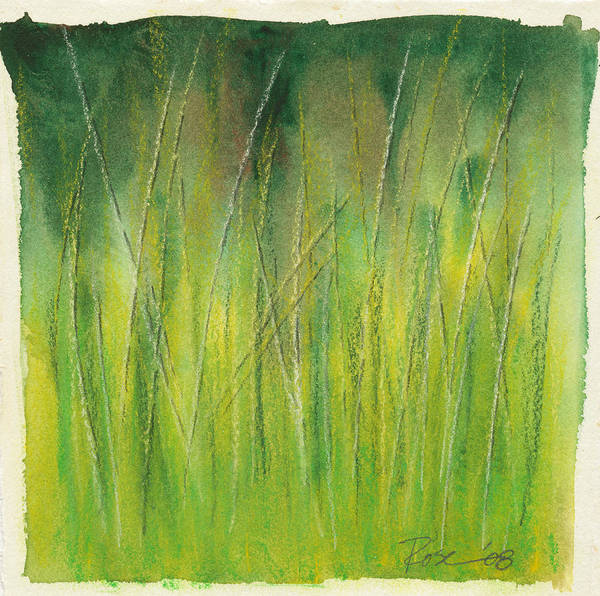 Wall Art - Painting - Grasses Study by Rosemary Craig