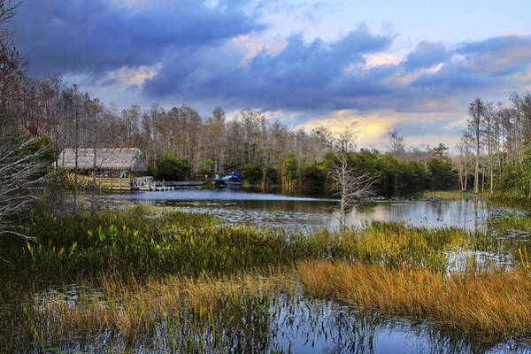 Airboat Photograph - Grassy Waters by Debra and Dave Vanderlaan