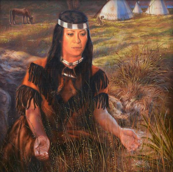 Cherokee Wall Art - Painting - Grateful On The Trail Of Tears In Oklahoma by James Loveless
