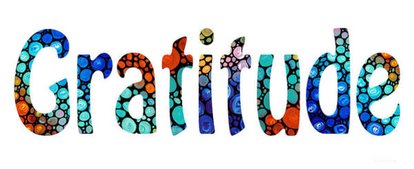 Thanksgiving Wall Art - Painting - Gratitude 1 - Inspirational Art by Sharon Cummings