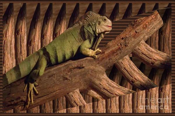 Digitalart Painting - Grator Cool Kool Hiding Place Display Exotic Animal Wild  by Navin Joshi