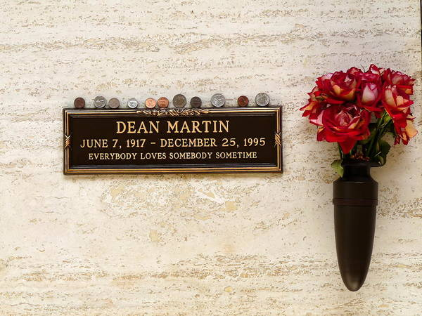 Photograph - Grave Of Dean Martin by Jeff Lowe