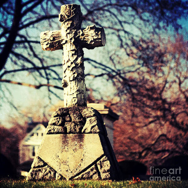 Wall Art - Photograph - Grave With Cross by HD Connelly