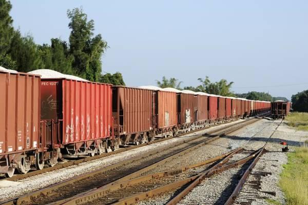 Photograph - Gravel Train On Side by Bradford Martin