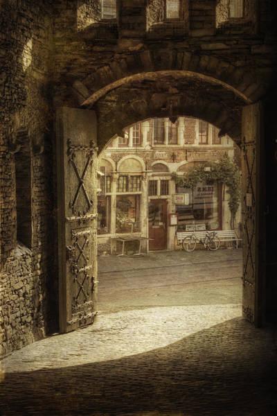 Photograph - Gravensteen Doorway by Joan Carroll