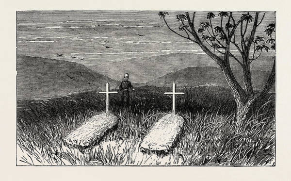 Douglas Drawing - Graves Of Lieut. Scott Douglas And Corporal Cotter by English School