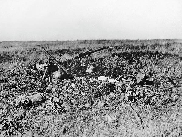 Photograph - Graves Of Soldiers In France by Underwood Archives