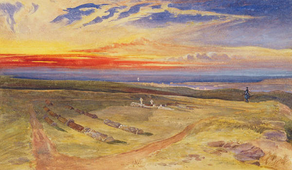 Wall Art - Painting - Graves Of The Officers In The Fort On Cathcart Hill by William Crimea Simpson