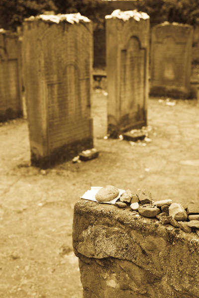 Wall Art - Photograph - Gravestone At Old Jewish Cemetery by Panoramic Images