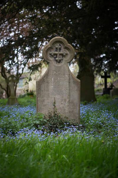Church Stretton Photograph - Gravestone by Gruffydd Thomas
