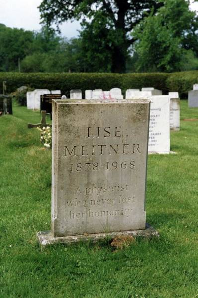 Gravestone Photograph - Gravestone Of Lise Meitner by Emilio Segre Visual Archives/american Institute Of Physics/science Photo Library