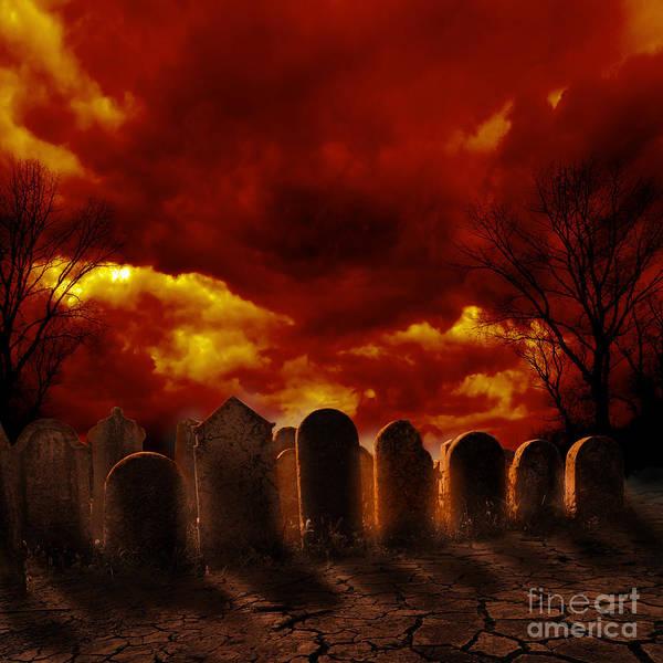 Wall Art - Pyrography - Graveyard by Jelena Jovanovic