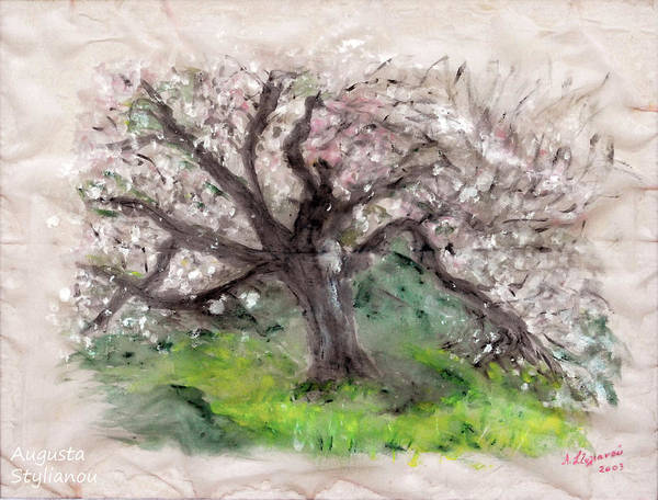 Painting - Gravity Of The Almond Tree by Augusta Stylianou