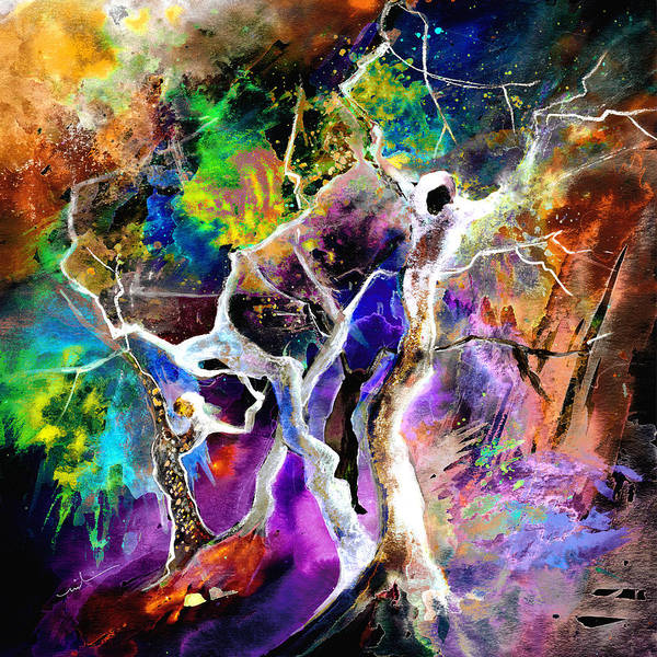 Painting - Gravity Or Choreography by Miki De Goodaboom