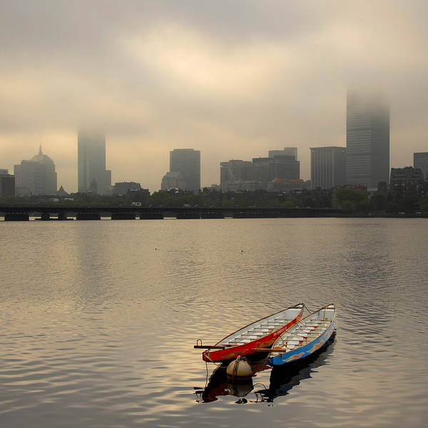 Photograph - Gray Day On The Charles River by Ken Stampfer