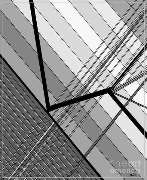 Utilitarian Painting - Gray Geometry 2 by Eloise Schneider Mote