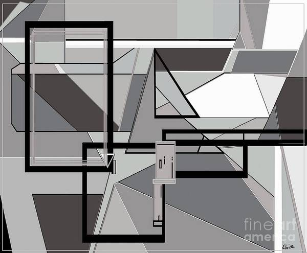 Utilitarian Painting - Gray Geometry by Eloise Schneider Mote