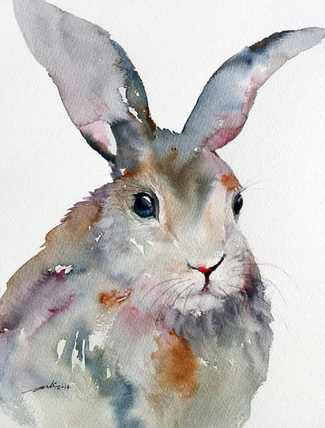 Hares Painting - Gray Hare by Arti Chauhan