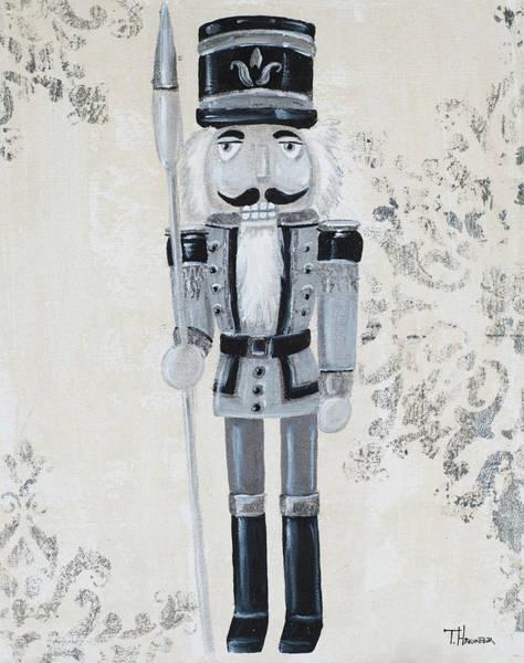 Wall Art - Painting - Gray Nutcracker I by Tiffany Hakimipour