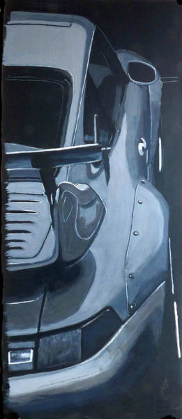 Painting - Gray Porsche by Richard Le Page