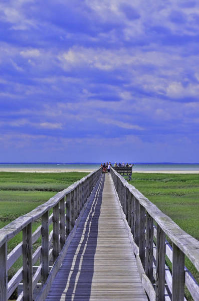 Yarmouth Photograph - Gray's Beach Boardwalk Yarmouth by Allen Beatty