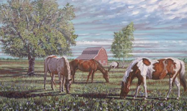 Painting - Grazing Time by Gary M Long