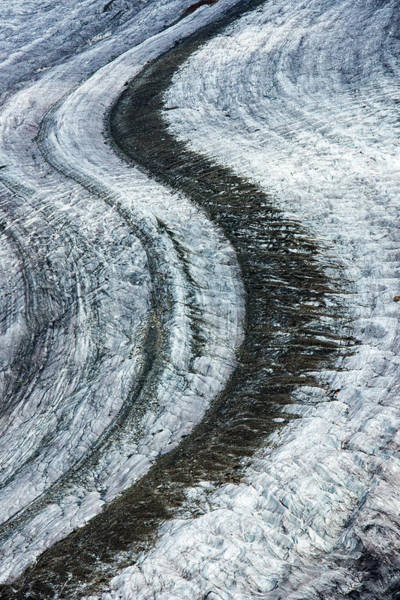 Photograph - Great Aletsch Glacier Moraine by Matthias Hauser