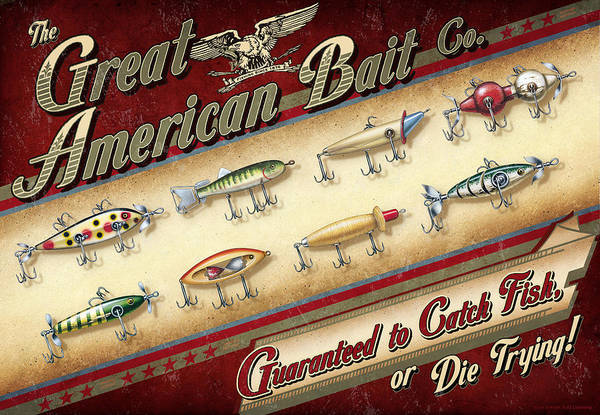 Painting - Great American Bait by JQ Licensing