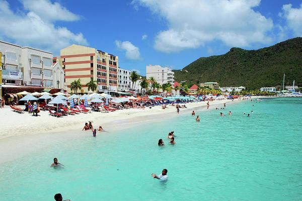 St. Maarten Photograph - Great Bay Beach, Philipsburg, St by Lynn Seldon