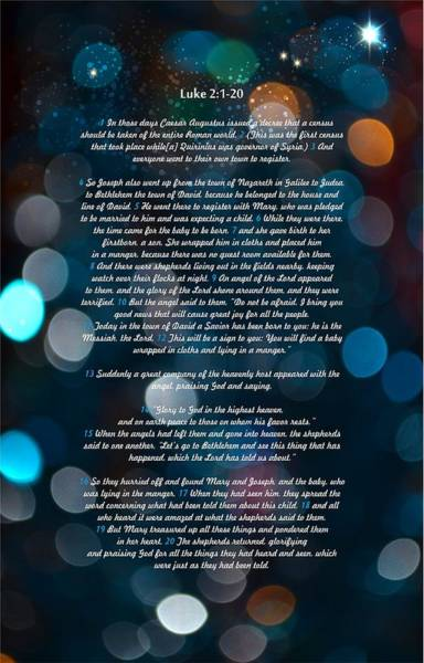 Bauble Digital Art - Great Bible Verses For Christmas by Irina Effa
