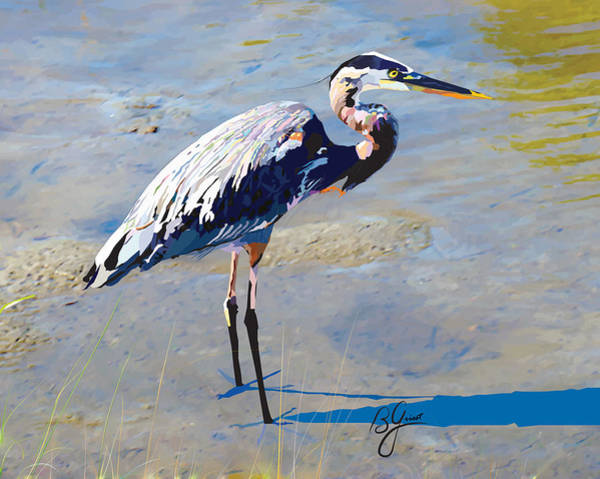 Great Blue Heron Mixed Media - Great Blue Heron by Bonnie Griest